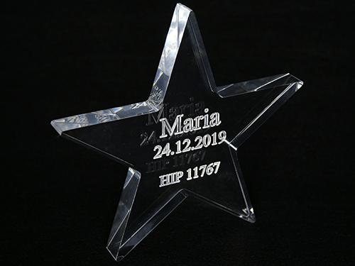 Hvězda z akrylátového skla