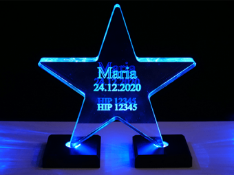 Akrylátová hvězda (osvětlená)